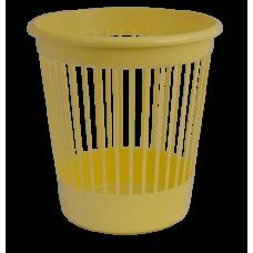 Корзина для бумаг Арника, 10л., круглая, пластиковая, желтая