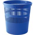 Корзина для бумаг Buromax Jobmax, 8л., круглая, пластиковая, синяя