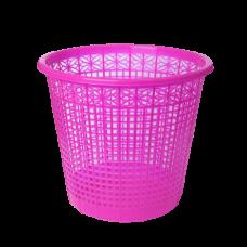 Корзина для бумаг ZiBi, 8л., круглая, пластиковая, розовая