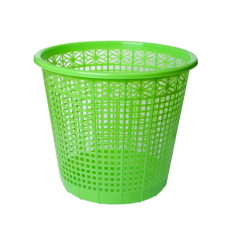 Корзина для бумаг ZiBi, 8л., круглая, пластиковая, салатовая