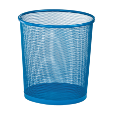 Корзина для бумаг ZiBi, 10л., круглая, металлическая, синяя