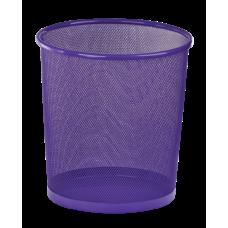 Корзина для бумаг ZiBi, 10л., круглая, металлическая, фиолетовая