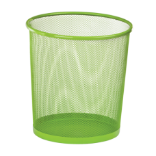 Корзина для бумаг ZiB, 10л., круглая, металлическая, салатовая