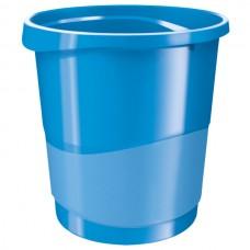 Корзина для бумаг Esselte Vivida, 14 л., круглая, пластиковая, синяя