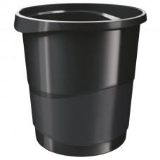 Корзина для бумаг Esselte Vivida, 14 л., круглая, пластиковая, черная