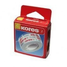 """Лента клейкая канцелярская 19 мм х 33 м """"Cristal"""" Kores, прозрачная, в PP пакете"""