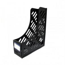 Лоток вертикальный сборный на 1 отделение Economix, пластиковый, черный