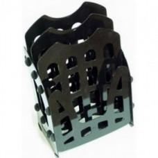 Лоток сборный на 6 отделений Economix, пластиковый, черный