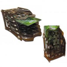Лоток вертикальный сборный 3 в 1 Economix, пластиковый, дымчатый