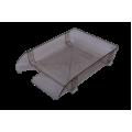 Лоток пластиковый горизонтальный Арника, 370х260х68мм, дымчатый