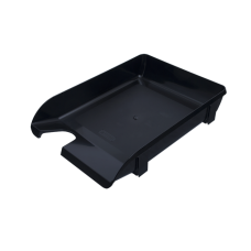 Лоток пластиковый горизонтальный Арника, 370х260х68мм, черный