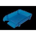 Лоток пластиковый горизонтальный Арника, 370х260х68мм, голубой
