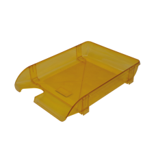 Лоток пластиковый горизонтальный Арника, 370х260х68мм, лимонный