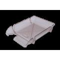 "Лоток пластиковый горизонтальный ""Компакт"" Jobmax, Арника, 370х270х65мм, дымчатый<br />"