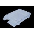 "Лоток пластиковый горизонтальный ""Компакт"" Jobmax, Арника, 370х270х65мм, прозрачный"