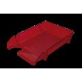 "Лоток пластиковый горизонтальный ""Компакт"" Jobmax, Арника, 370х270х65мм, алый"