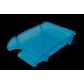 "Лоток пластиковый горизонтальный ""Компакт"" Jobmax, Арника, 370х270х65мм, голубой"
