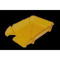 "Лоток пластиковый горизонтальный ""Компакт"" Jobmax, Арника, 370х270х65мм, лимонный"