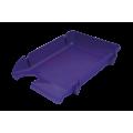 """Лоток пластиковый горизонтальный """"Компакт"""" Jobmax, Арника, 370х270х65мм, фиолетовый"""