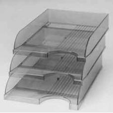 Лоток горизонтальный ЛГ-04, КиП, 340х260х64мм, прозрачный