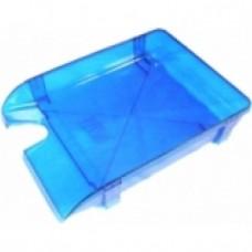 Лоток горизонтальный Economix, пластиковый, голубой