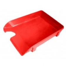 Лоток горизонтальный Economix, пластиковый, красный