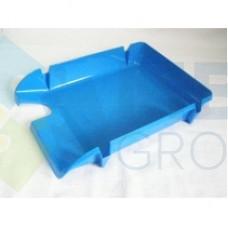 """Лоток горизонтальный """"Компакт"""" Economix, пластиковый, голубой"""