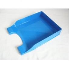 """Лоток горизонтальный """"Симметрия"""" Economix, пластиковый, голубой"""