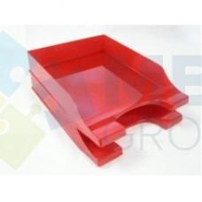 """Лоток горизонтальный """"Симметрия"""" Economix, пластиковый, красный"""