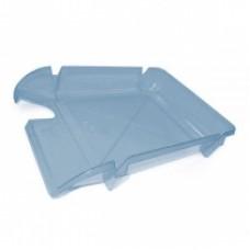 """Лоток горизонтальный """"Компакт"""" Economix, пластиковый, синий"""