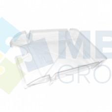"""Лоток горизонтальный """"Компакт"""" Economix, пластиковый, прозрачный"""