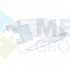 """Лоток горизонтальный """"Симметрия"""" Economix, пластиковый, прозрачный"""