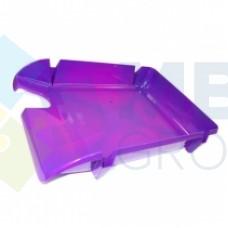 """Лоток горизонтальный """"Компакт"""" Economix, пластиковый, фиолетовый"""