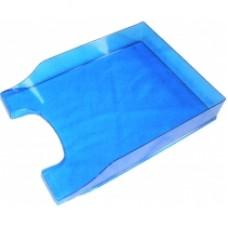 """Лоток горизонтальный """"Симметрия"""" Economix, пластиковый, синий"""