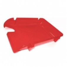 """Лоток горизонтальный """"Компакт"""" Economix, пластиковый, красный"""