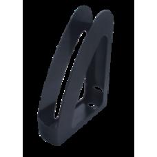 """Лоток пластиковый вертикальный """"Радуга"""" передняя стенка, """"Jobmax"""" Арника, 300х230х80мм, черный"""
