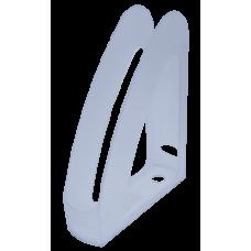"""Лоток пластиковый вертикальный """"Радуга"""" передняя стенка, """"Jobmax"""" Арника, 300х230х80мм, прозрачный"""