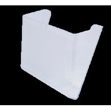 "Лоток пластиковый настенный ""Jobmax"" Арника, 300х230х80мм, прозрачный"