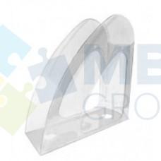 """Лоток вертикальный """"Радуга"""" Economix, пластиковый, прозрачный"""