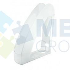 """Лоток вертикальный с передней стенкой """"Радуга"""" Economix, пластиковый, прозрачный"""