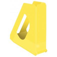 Лоток вертикальный Europost VIVIDA Esselte, пластиковый, желтый