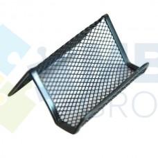Подставка для визиток Optima, 105х90х50 мм, металлическая, черная