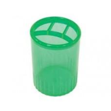 Подставка для ручек на 4 отделения Economix, пластиковая, зеленый