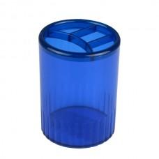Подставка для ручек на 4 отделения Economix, пластиковая, синяя