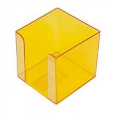 """Бокс для бумаги """"Jobmax"""" Арника, 80х80х45мм, желтая"""