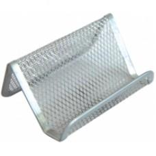Подставка для визиток Optima, 105х90х50 мм, металлическая, серебряная