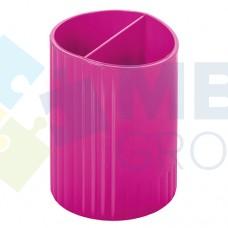 Подставка для ручек на 2 отделения Economix, пластиковая, малиновая