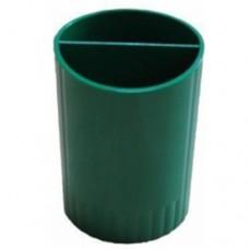 Подставка для ручек на 2 отделения Economix, пластиковая, зеленый