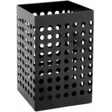 Подставка для ручек прямоугольная Optima, 70х70х110 мм, металлическая, черная