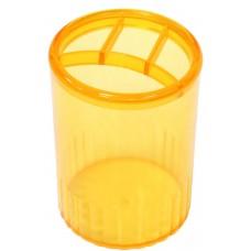 Подставка для ручек на 4 отделения Economix, пластиковая, лимонная